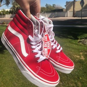 VANS Red High top NWT shoes 7.5